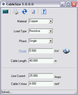 Electric cable sizing software if you are planning to do cable sizing for a real installation check the results and make sure that you comply with all electrical regulations keyboard keysfo Images